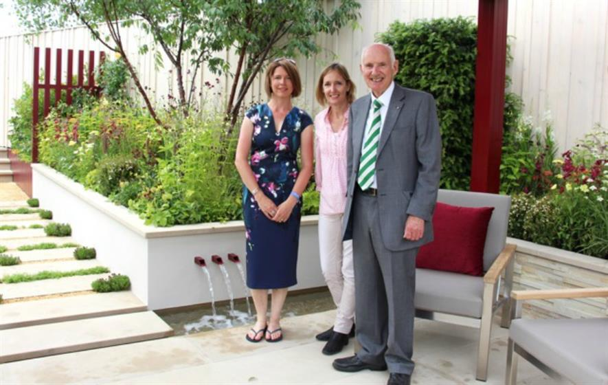 Catherine MacDonald (Landform Designer), Sarah Squire (Squire's Deputy Chairman) & Colin Squire (Squire's Chairman)