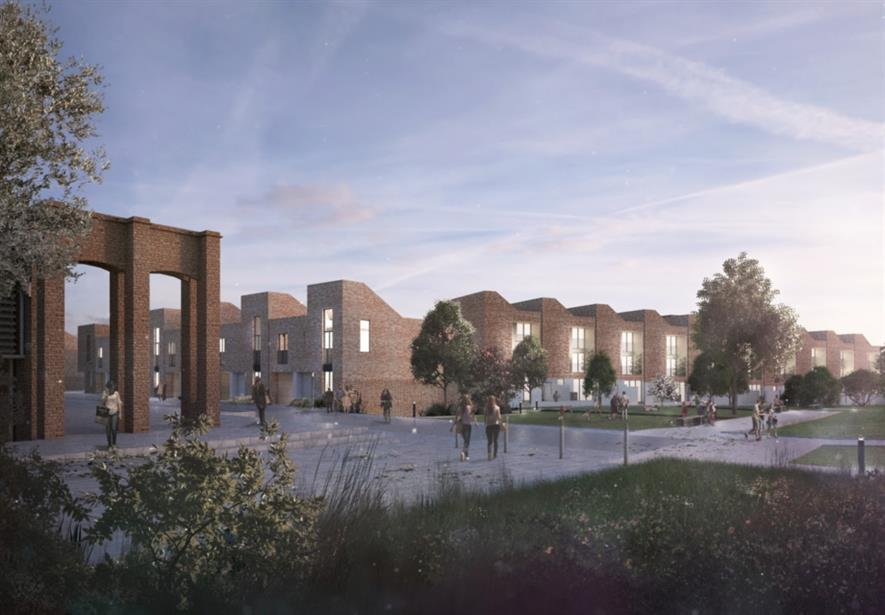 Community gardens and liveable streets are central to the design. Image: Grant Associates