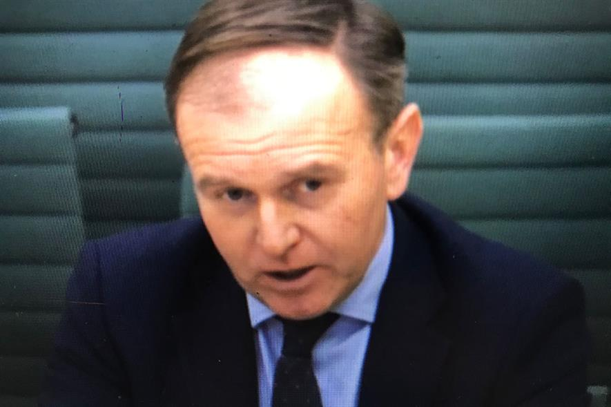 George Eustice at the  Environment, Food and Rural Affairs Committee hearing