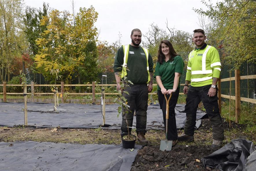 Glendale and People in Action planting a community orchard. Image: Supplied