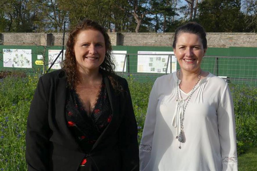 Alison Connolly and Dr Marie Coggins, School of Physics, NUI Galway. Photo: NUI Galway.