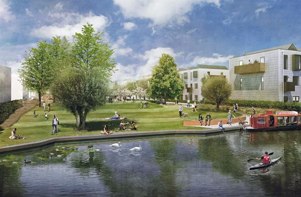 Visualisation shows the importance of green space to the site. Image: Grant Associates