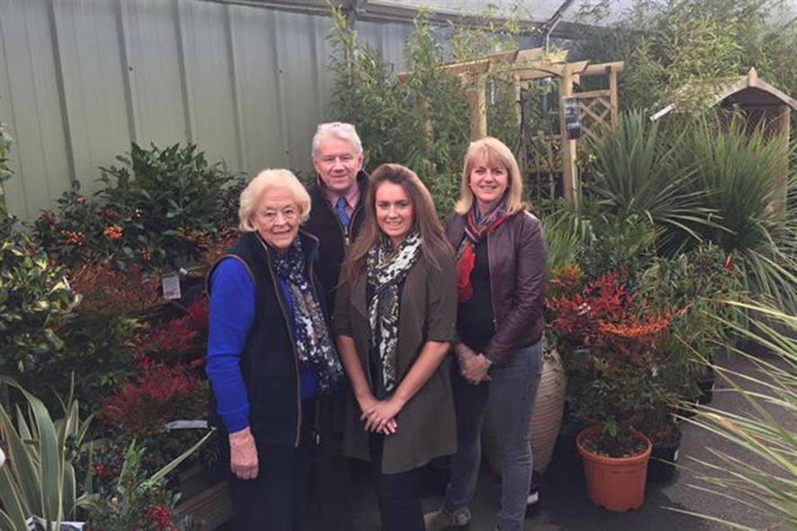 Joan, Tim, Emma and Sue Greenway