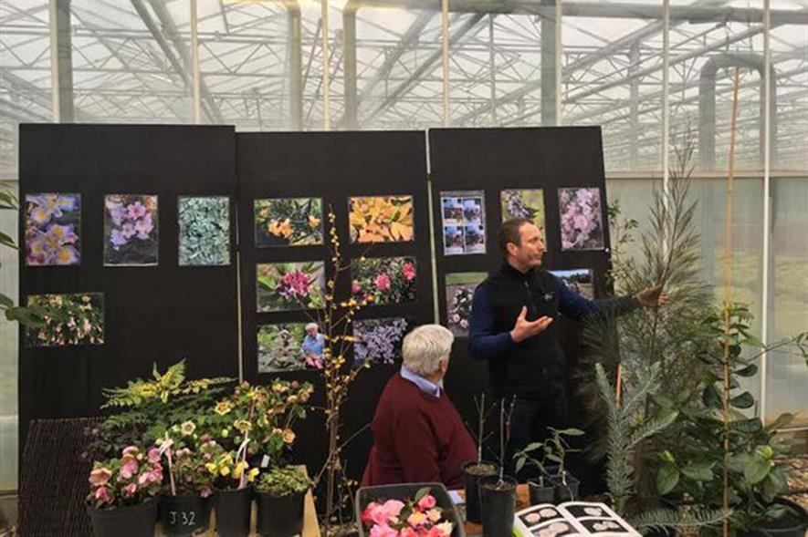 Kevin Hobbs shows new plants