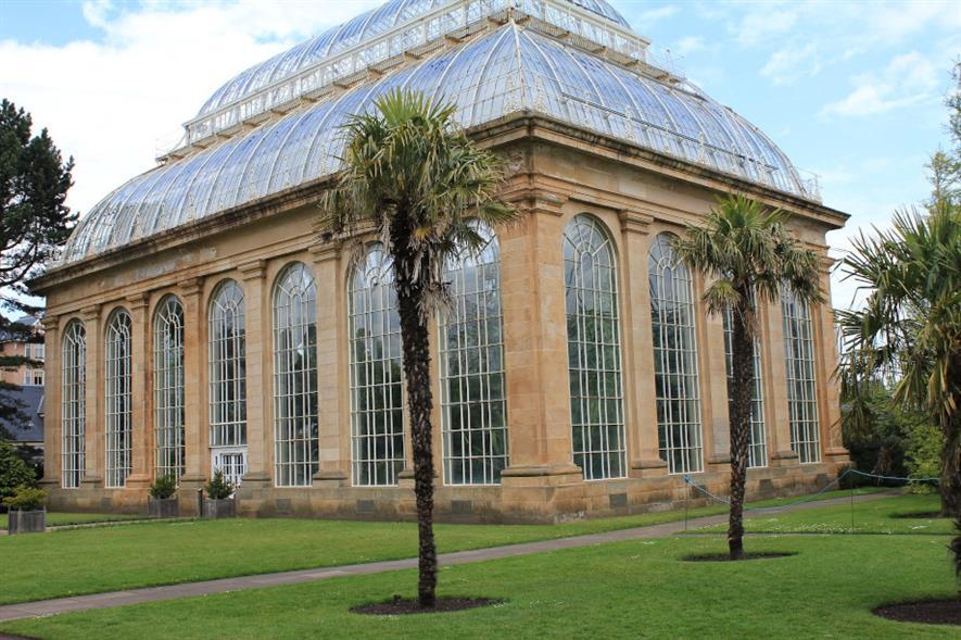 Glasshouse at the Royal Botanic Garden Edinburgh
