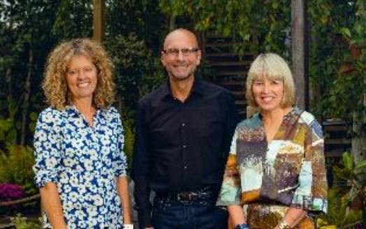 Caroline Notcutt, Vice Chairman; Nick Burrows, CEO; and Bridget McIntyre, Chairman, Notcutts