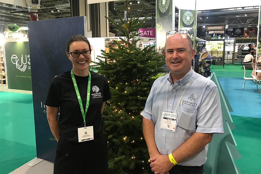 Infinity Christmas Trees' Chris Schofield and Kelly Morss (Woodland Heritage (left)