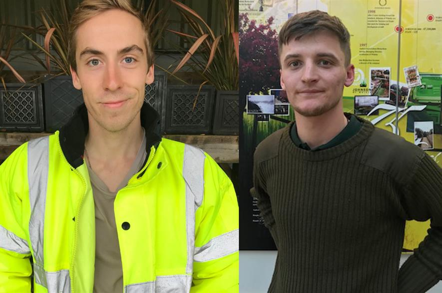 L-R - George Metcalfe and Tom Watkins - Management Trainees
