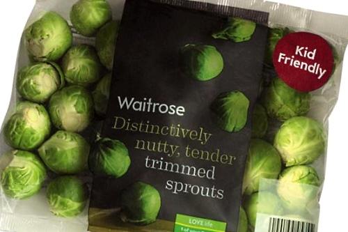 New Waitrose Brussels sprouts pack - image:Waitrose