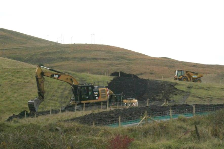 Ground preparation works at the colliery. Image: NRW