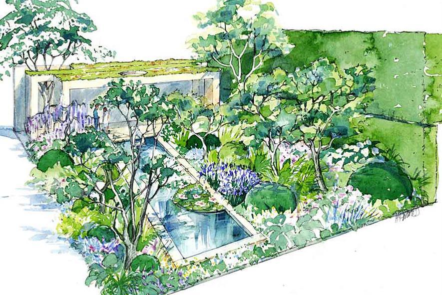 Chris Beardshaw's Morgan Stanley garden at Chelsea 2015.