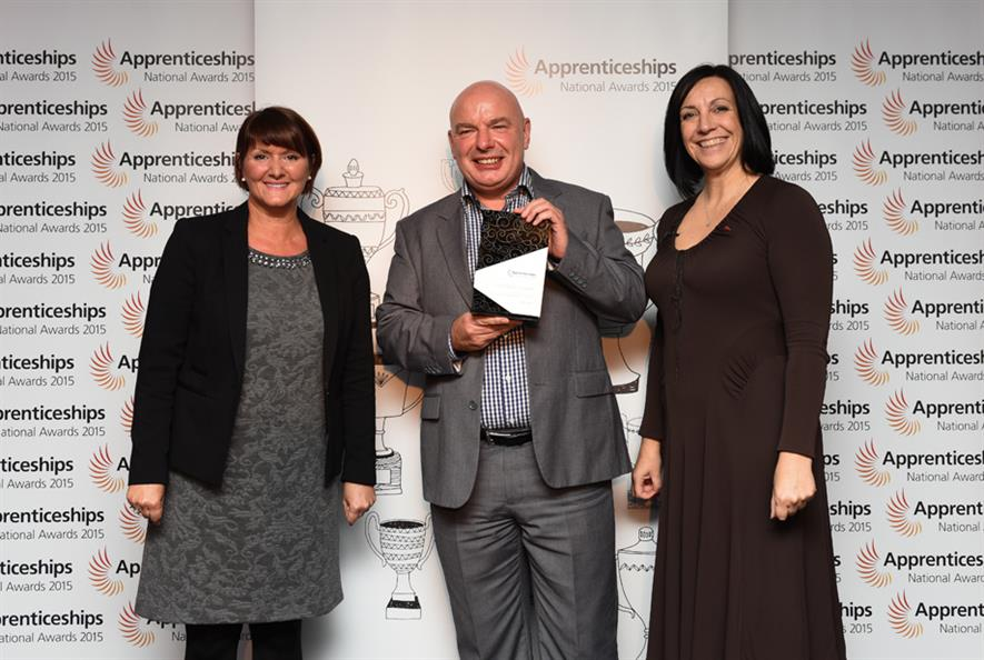 Neil Cain accepts his award. Image: Supplied