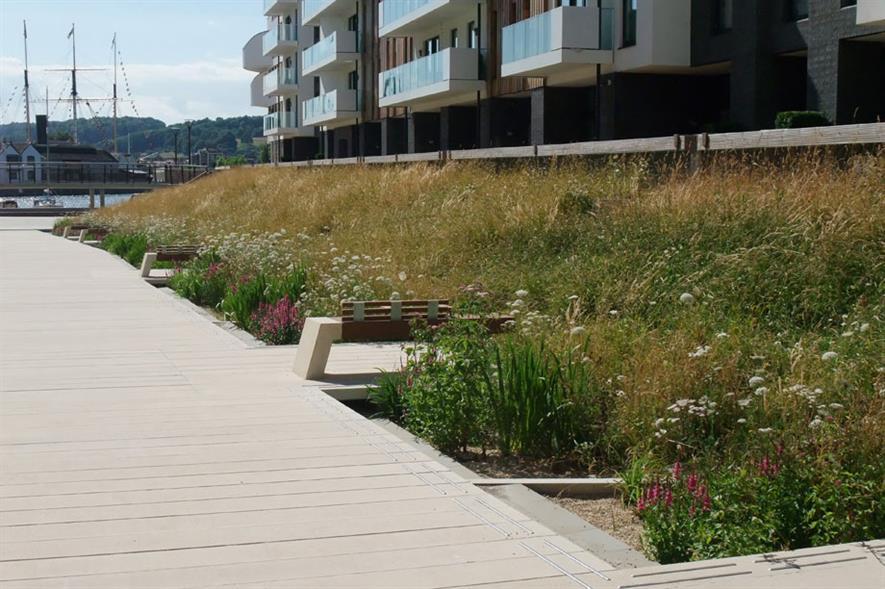 Soft Landscaping Construction (non-domestic): cost under £300K - Elmtree Garden Contractors Bristol Harbourside Building 4 and Millenium Promenade, Bristol BS1
