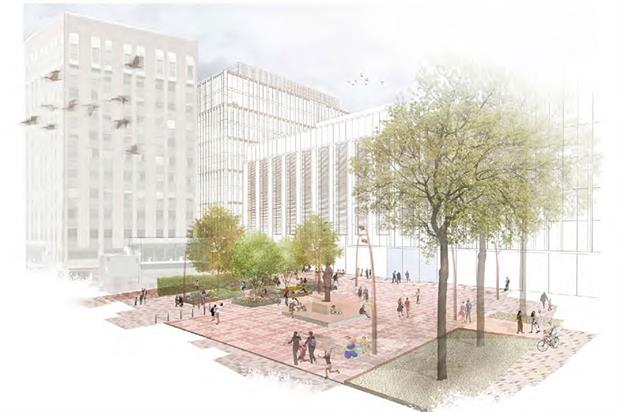 Lincoln Square visualisation, part of a £4m-plus public realm scheme - image: Planit-IE