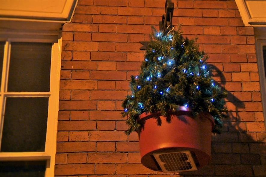 Hanging Christmas tree. Image: Plantscape