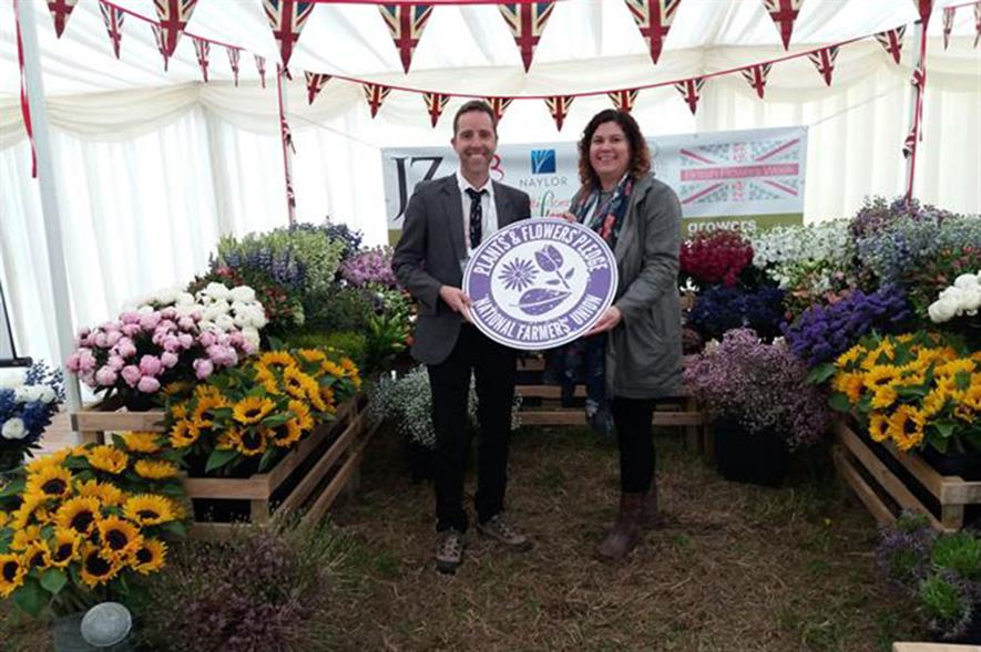 Lee Abbey and Kathryn Camps (Horticulture Technical and Development Manager at Co-op)