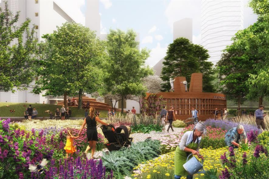 West 8's pollinator garden for Bernie Spain Gardens north. Image: copyright West 8