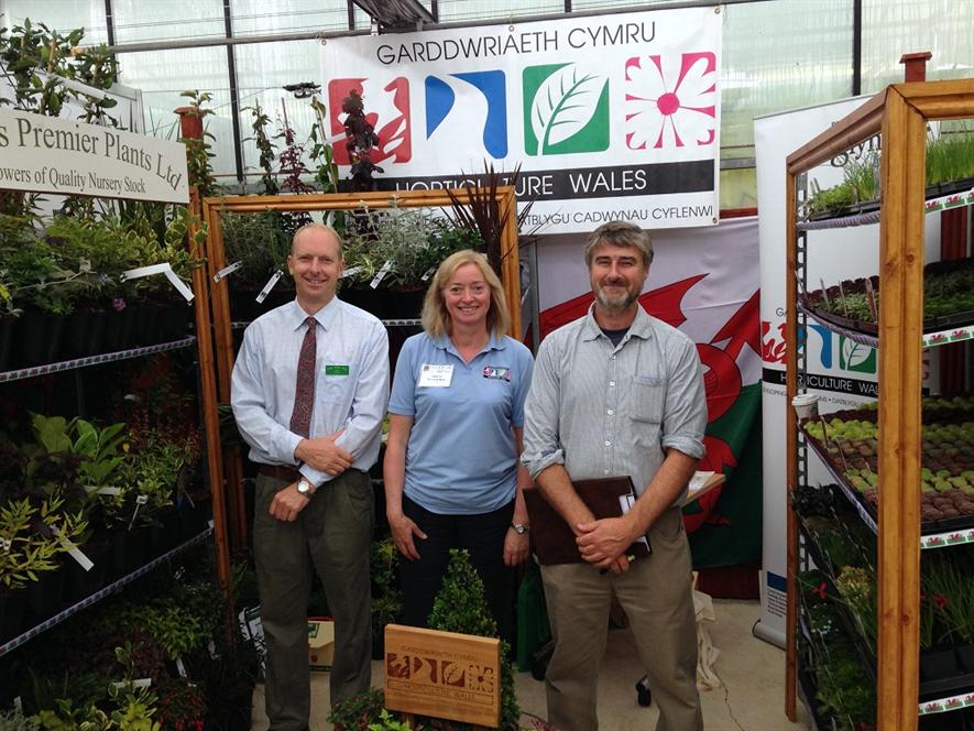 Mark Pottle, Karen Rodenberg (Horticulture Wales), Charles Warner