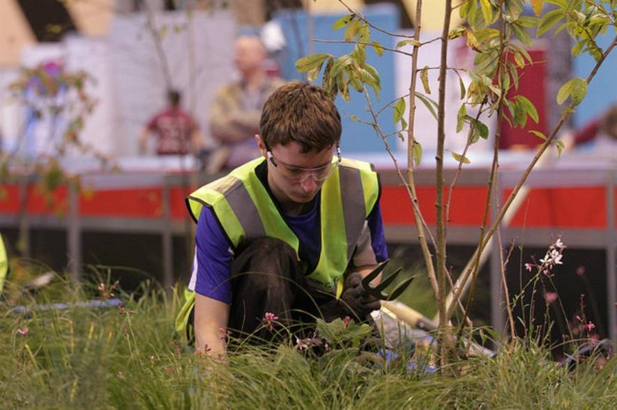 Robert Wylie, landscape winner for WorldSkills UK 2014. Image: WorldSkills UK