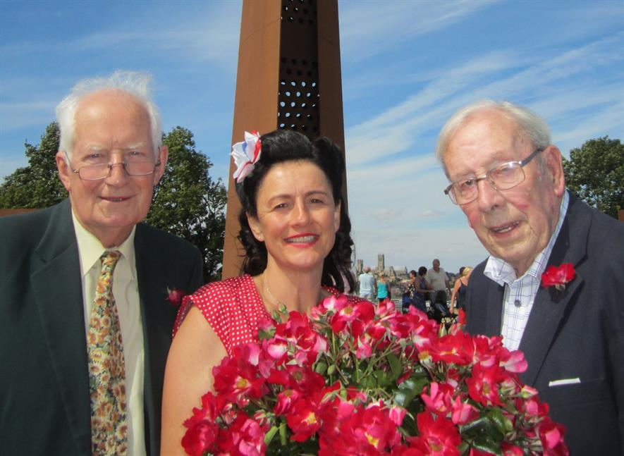 Peter Seabrook (left) and the Lest We Forget' rose