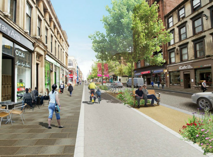 A vision of Sauchiehall Street after work is complete. Image: Glasgow City Council