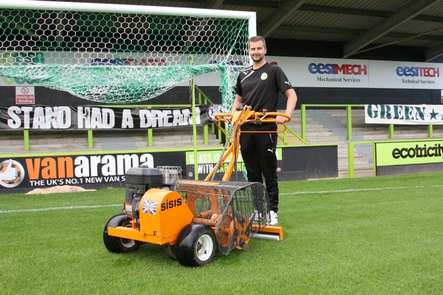 Forest Green head groundsman Matt Rainey. Image: SISIS