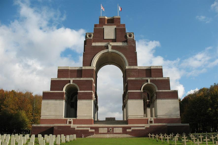 The Thiepval Memorial to the Missing of the Somme - credit: Pixabay