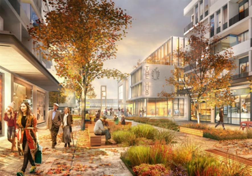 Visualisation of the regenerated town centre public realm
