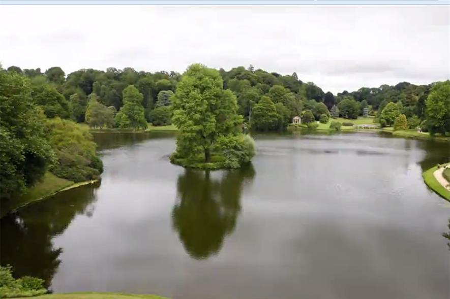 Screengrab of Stourhead Gardens timelapse