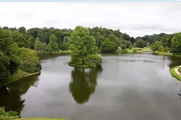 Stourhead lake filmed by Lobster Pictures in 2015. Image: Lobster Pictures