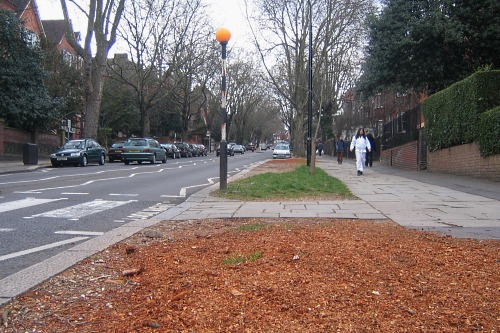 Site of a removed mature street tree - image:HW