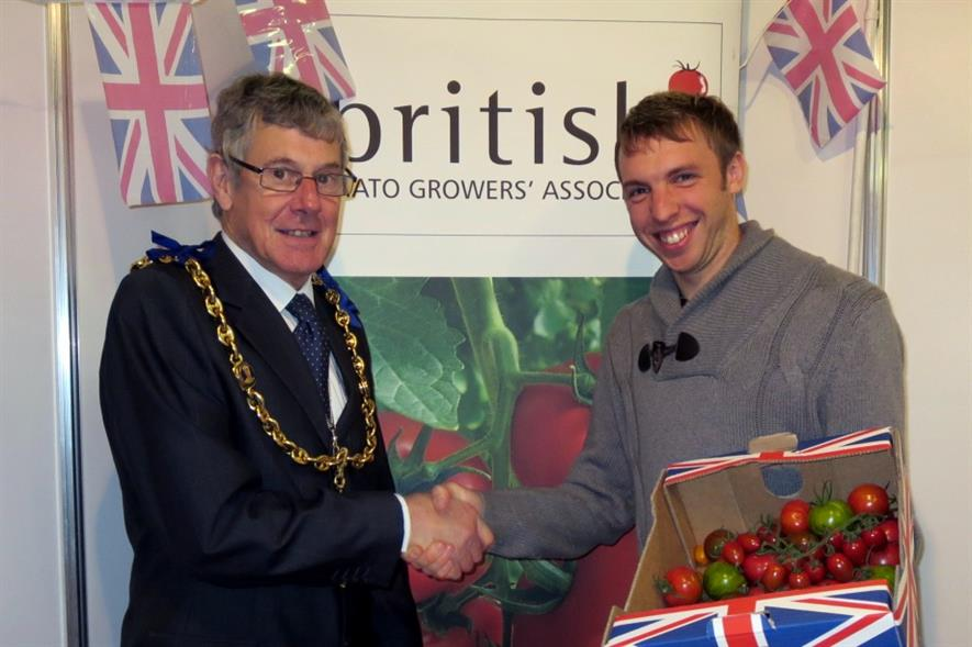 Robert Farthing is congratulated by Mayor of Maidstone Cllr Richard Thick - image:BTGA