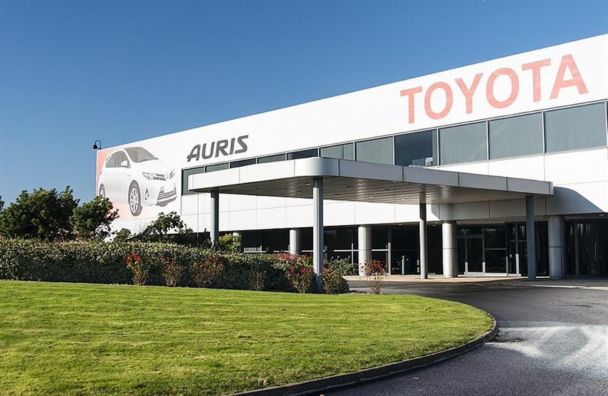 Toyota's Burnaston facility, Derbyshire. Image: Toyota Manufacturing UK