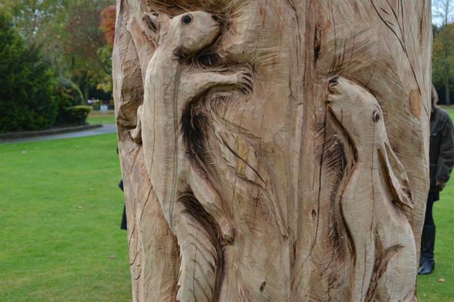 Close-up of the beech tree sculpture.  Image: NHDC