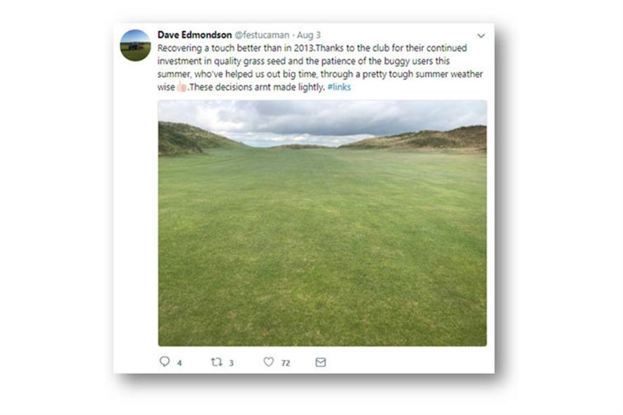The Island Golf Club, Ireland, springs back to life after rain