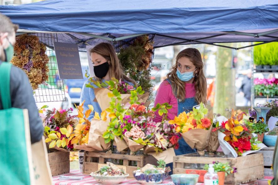 Chiswick Flower Market will take place on the first Sunday of every month from May - credit: Anna Kunst