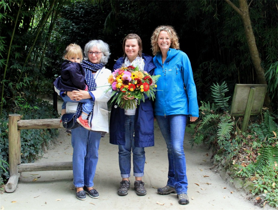 Heligan's five millionth visitors with Kate Humble