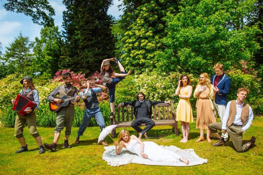 Cast of A Midsummer Night's Dream at Great Windsor Park. Image: Watch Your Head