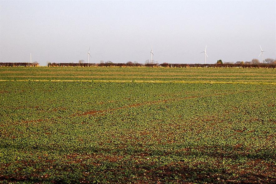 Wind turbines in the fens - credit: Flickr/John (CC by 2.0)