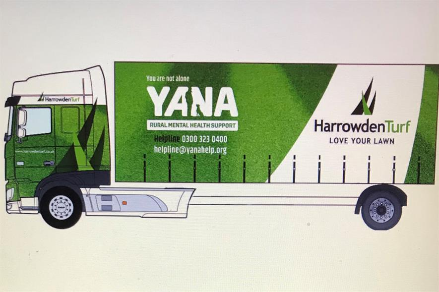 Design sketch of the proposed YANA livery - credit: Harrowden Turf
