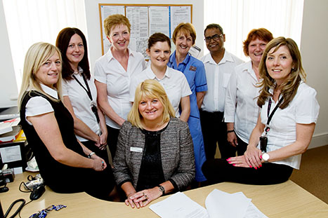Practice manager Lin Baillie (centre) and the team at Wigton Group Medical Practice, which was rated outstanding by the CQC (Picture: UNP)