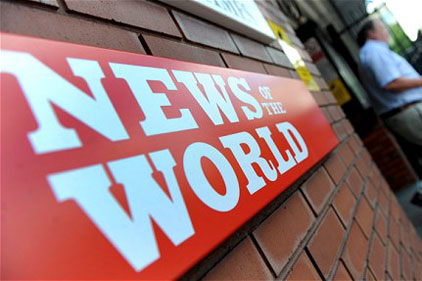 News International: to close the News of the World this weekend