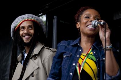 Marley family: Julian and Cedella Marley