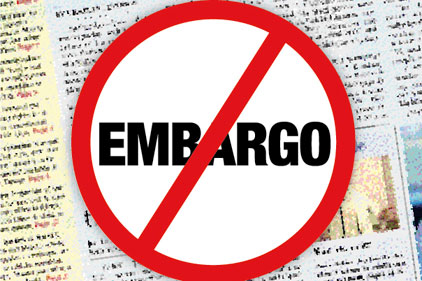 No to embargoes: WSJ in policy shift?