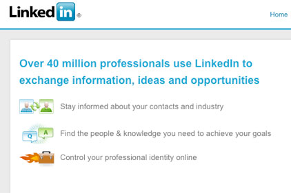 LinkedIn: professional social media networking site