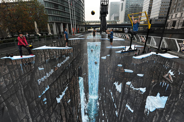 Record-breaker: Reebok's 3D street art