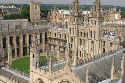 Reputation drive: Oxford University