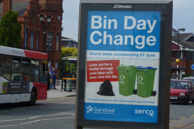 Comms challenge: Sandwell changes bin collection day