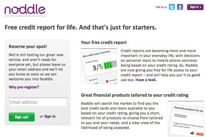 Noddle: offers credit reports free for life