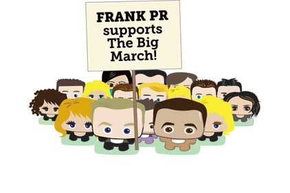 Mini marchers: Frank PR avatars